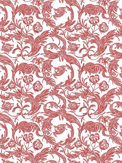 Interior, red on white