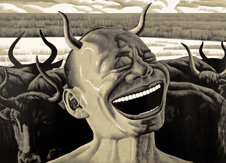 Grassland Series-Laughing Horns